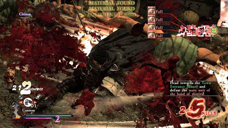 Guts utilizando un ataque especial contra decenas de adversarios que se encontraban rodeándole.