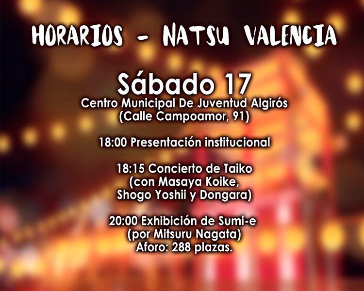 horario natsu valencia sábado