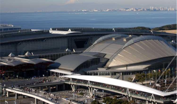El complejo Makuhari Messe, lugar donde se celebra el evento