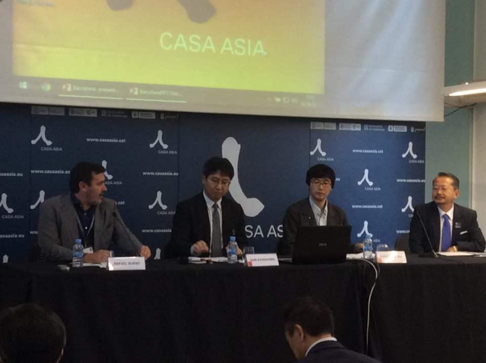De izquerda a derecha: Rafael Bueno, Shin Kawashima, Sochi Naraoka y Naohito Watanabe.