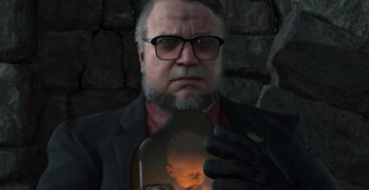 Aparición en el videojuego Death Stranding del director Guillermo del Toro en el tráiler de 2016 perteneciente a The Game Awards.