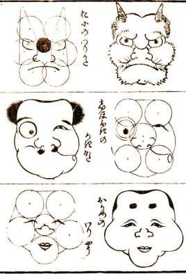 Método para dibujar un oni, método para dibujar un Hyotokko y método para dibujar una okane. Podremos encontrar estas obras tanto en las guardas del manual, como en la colección de ilustraciones de su interior.