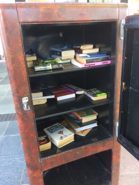 Cool free library for people to just take and leave books.