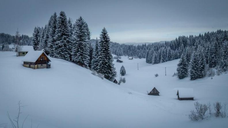 Snow in Slovenia