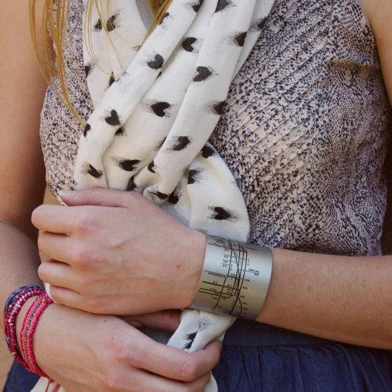 city inspired cuff bracelets