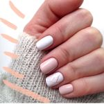 White And Pink Marble Design Nails Coolladies Net