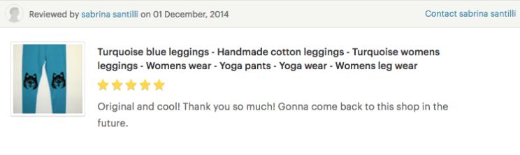 lovely customer review