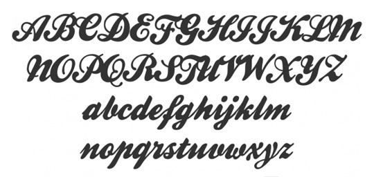 Fonts for COOL Leggings