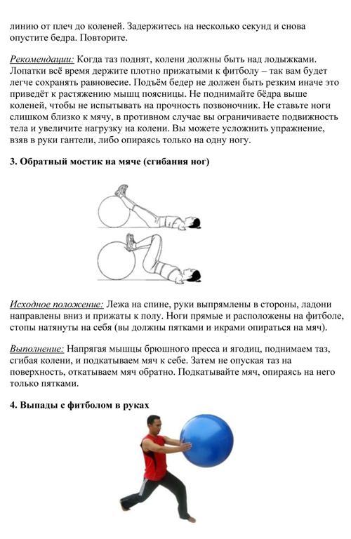 Эффективные упражнения на фитболе для начинающих ...
