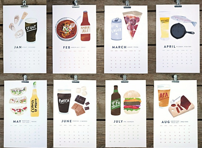 Beer and Food 2013 Calendar