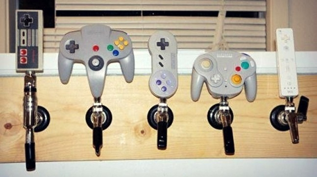 video-game-controller-beer-tap-handles