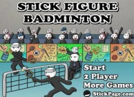 Stick Figure Badminton by StickPage.Com