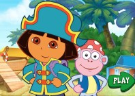Dora's Pirate Boat Treasure Hunt