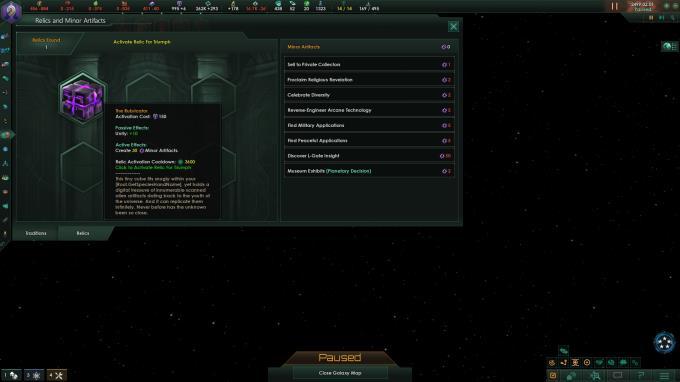 Stellaris: Ancient Relics Story Pack PC Crack