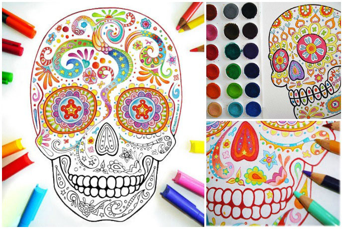 The Best Printable Sugar Skull Coloring Pages Found Them