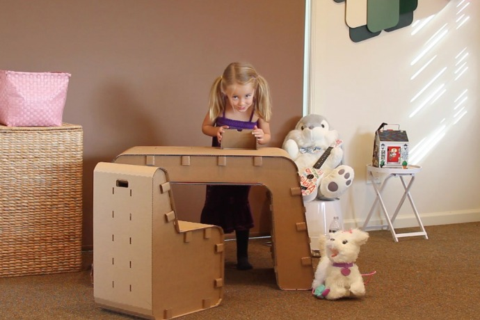 Wonderful Cardboard Furniture For Kids Made For Creativity