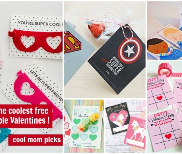 Super Cool Printable Valentines Day Cards For The Classroom All Free Or Close To