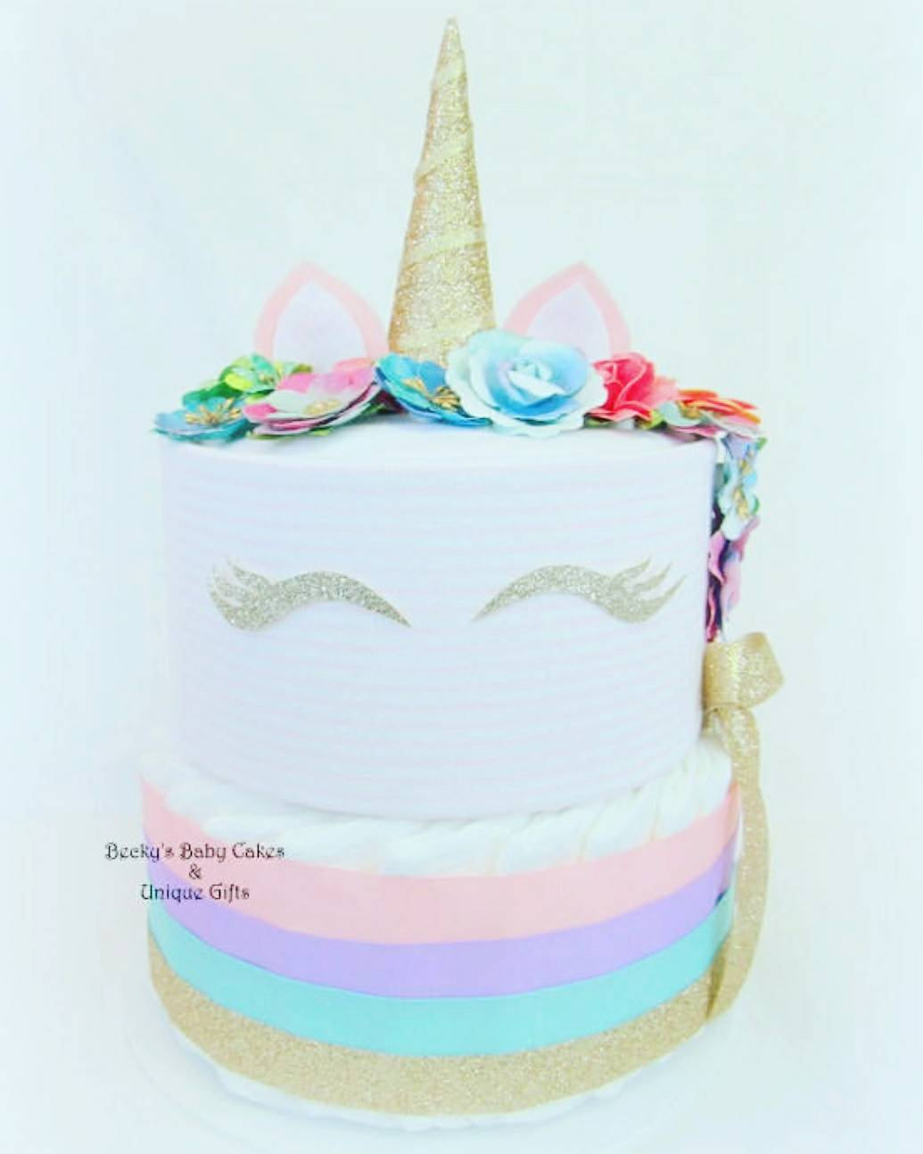 Make Diaper Cake Baby Shower