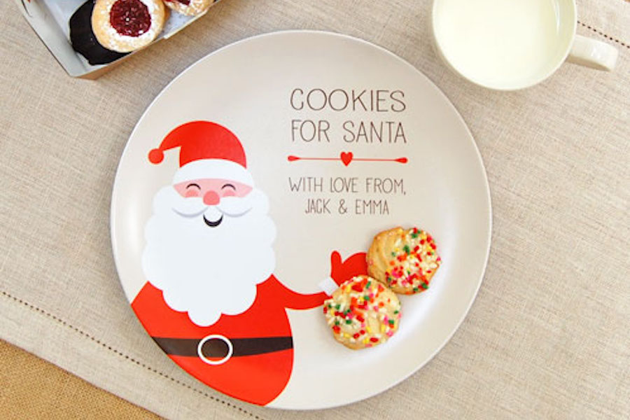 A Magical Personalized Cookies For Santa Plate Cool Mom