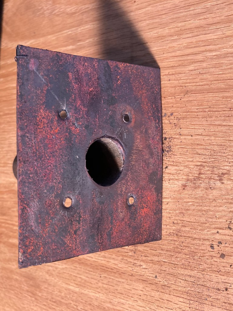 the plate of the copper snout for the bellows