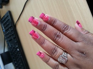 Zebra stripe nail designs image collections nail art and nail zebra stripe nail design choice image nail art and nail design ideas nail art zebra stripes prinsesfo Images
