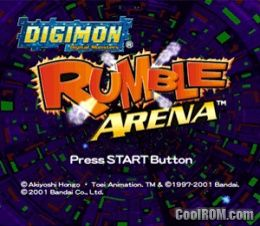 Digimon Rumble Arena ROM (ISO) Download for Sony Playstation / PSX - CoolROM.com