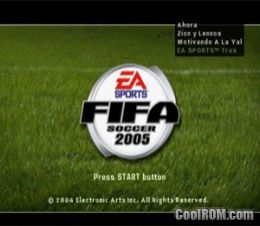 FIFA Soccer 2005 ROM (ISO) Download for Sony Playstation / PSX - CoolROM.com