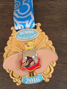 Dumbo Double Dare Challenge Medal (the ears flap!)