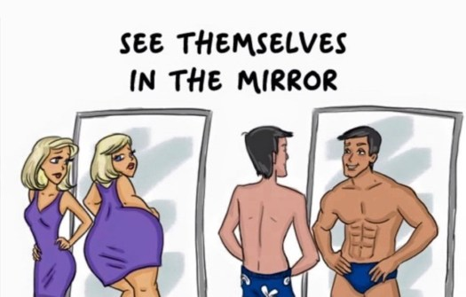 Image result for men in the mirror versus women