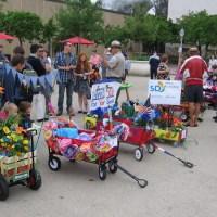 Floral Wagon Parade at Balboa Park's Garden Party!