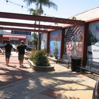Murals in urban park celebrate La Mesa volunteers.