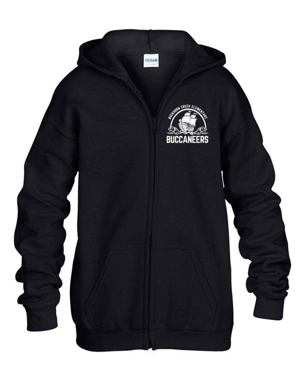 Buckhorn Creek Zipper Hoodie - Black