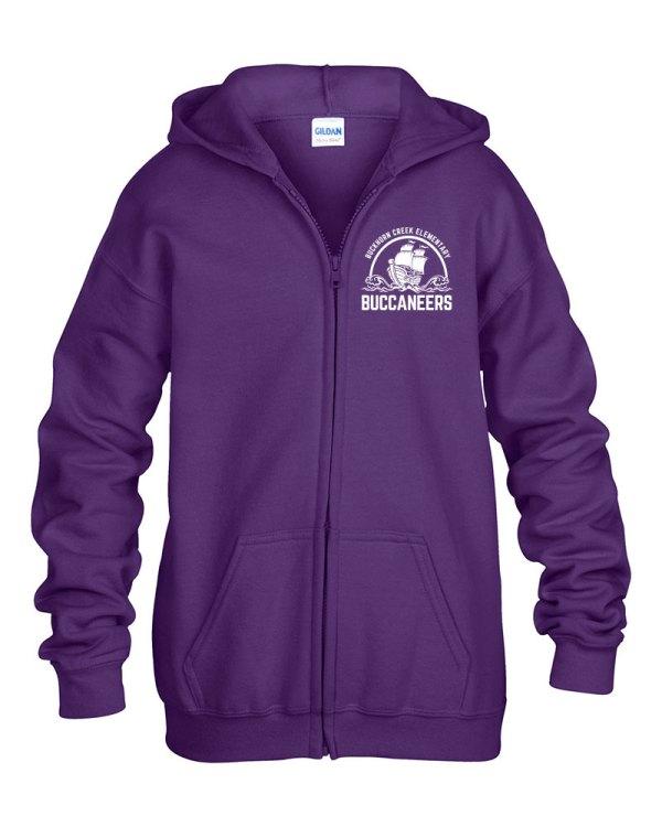 Buckhorn Creek Zipper Hoodie - Purple