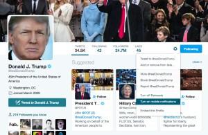 Get a text when Trump tweets.