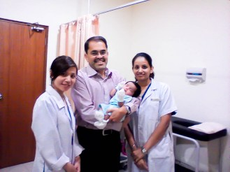 Jay with Dr. Fabian and wonderful staff of TMC
