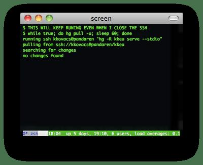 gnu screen screenshot