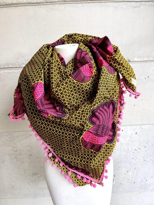 Foulard coquille rose big