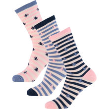 Pack Of Three Striped Socks