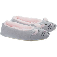 Grey Woven Mouse Slippers