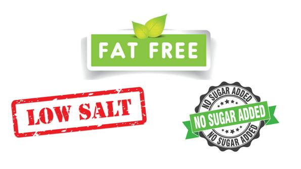 fat free low salt no sugar added labels