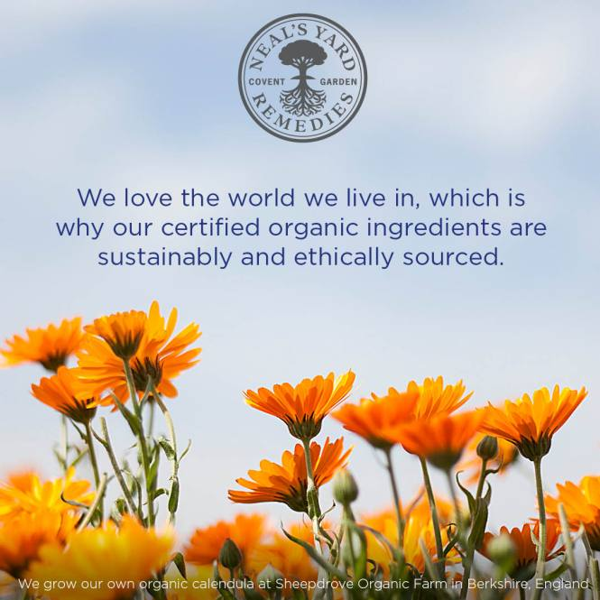 a neals yard quote pic with flowers