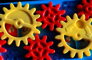 colorful plastic gears
