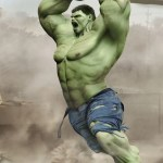 Portrait Art  Hulk   Closer Look   3D  Concept art  Digital     Love this post  Please share