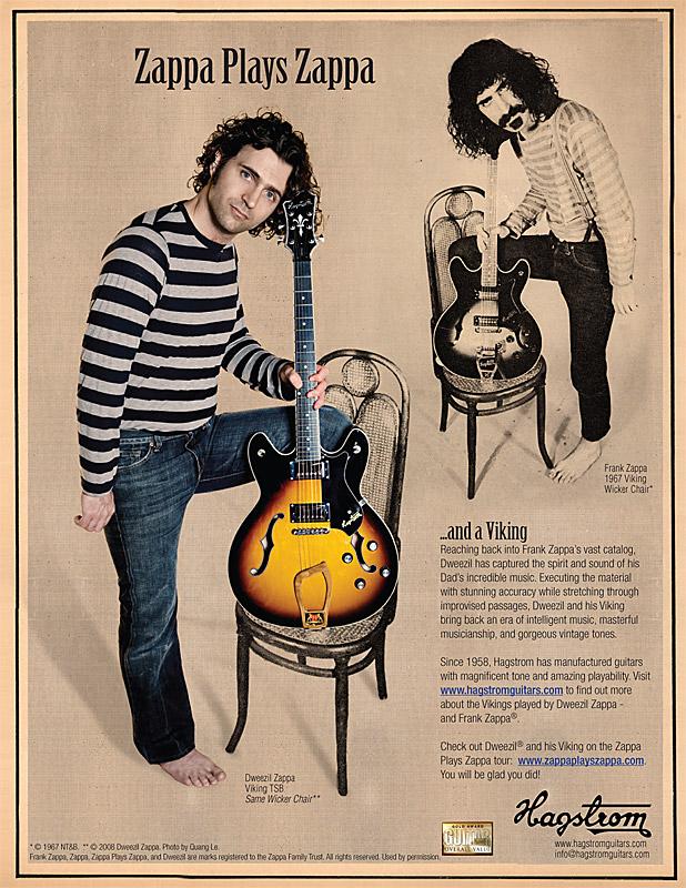 Zappa plays Zappa, Hagstrom ad