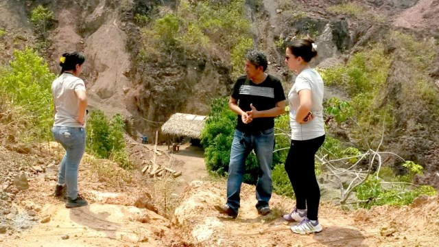 Equipe esteve na área da antiga cava da Cutia