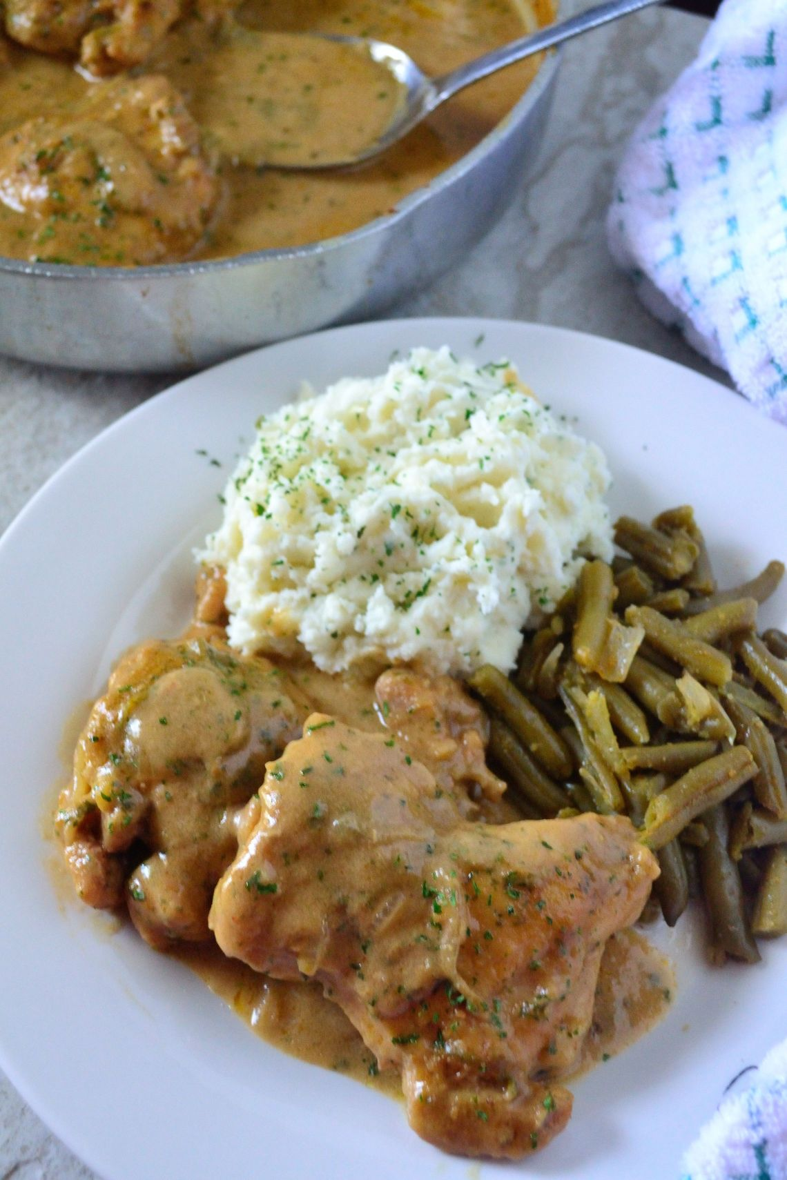 Smothered Chicken and Homemade Gravy