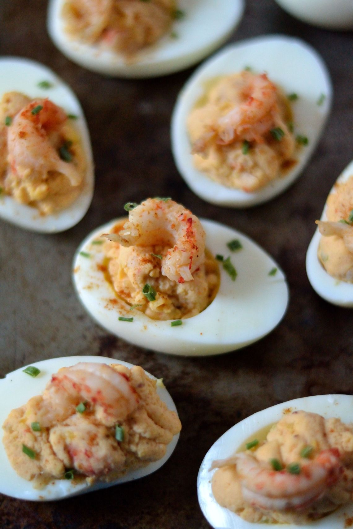Crawfish Deviled Eggs