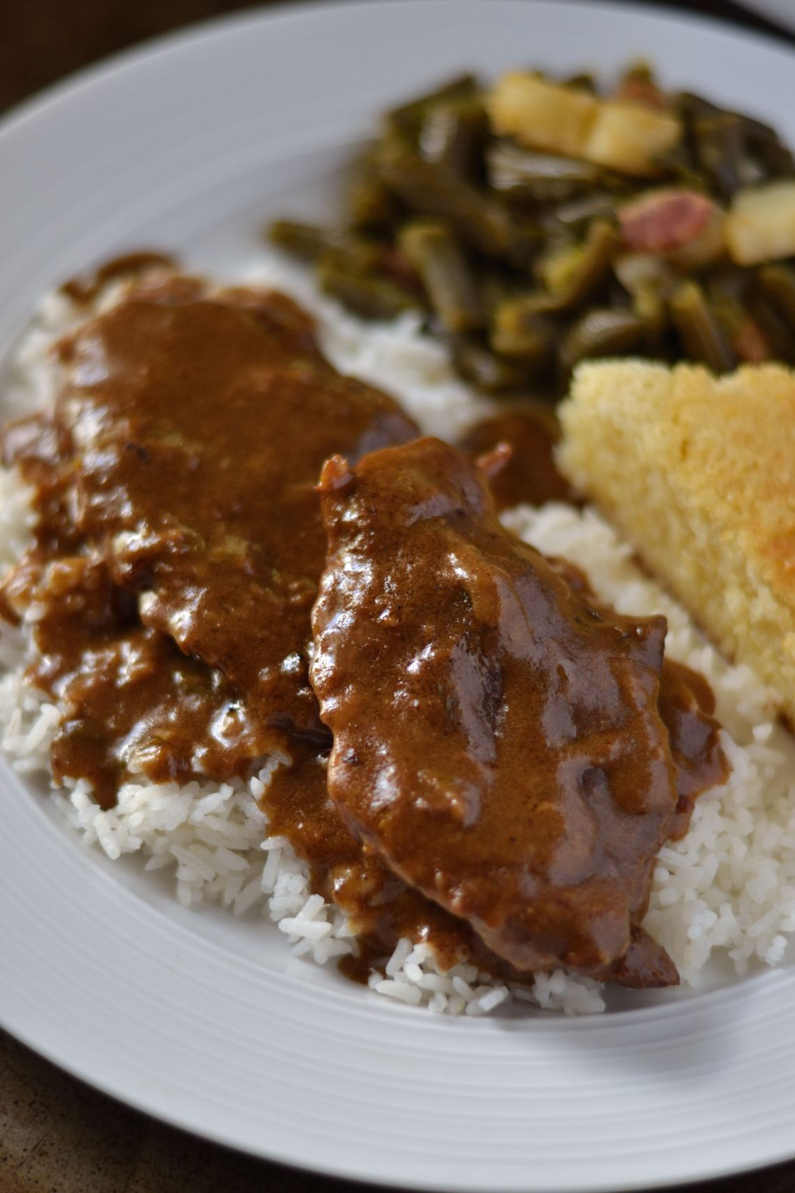 Rice and Gravy Steaks Recipe