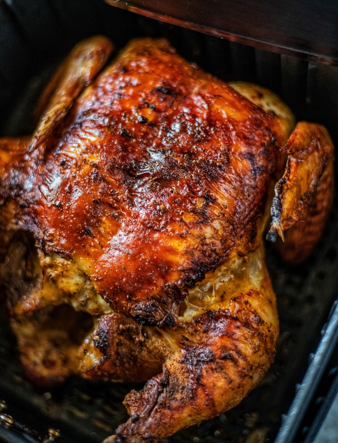 Air Fryer Whole Chicken |Cajun Butter Chicken