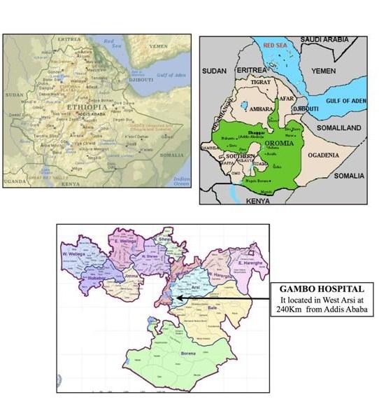 Ubicació geogràfica / Ubicación geográfica etiopia gambo